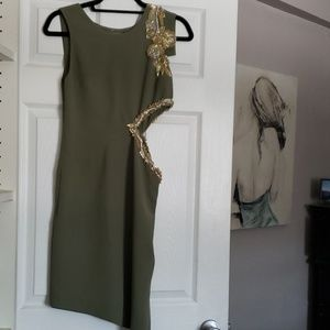 Max Azria asymmetrical dress